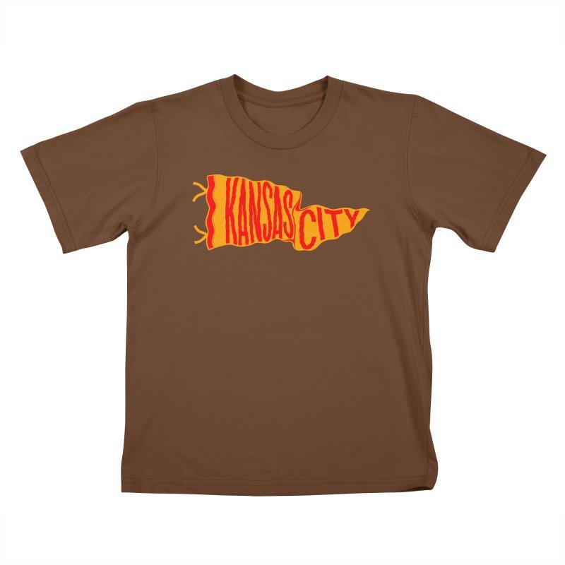 Kansas City Pennant No. 1 Kids T-Shirt by redleggerstudio's Shop