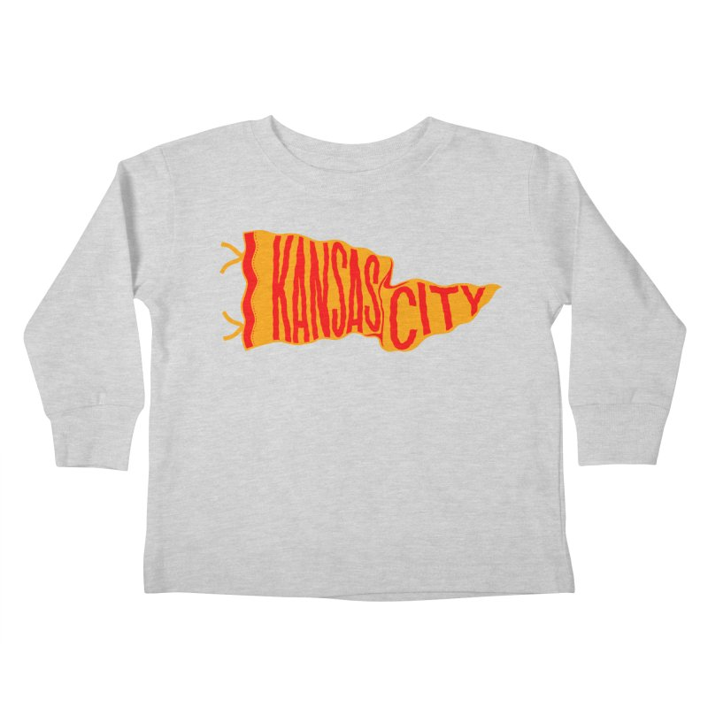 Kansas City Pennant No. 1 Kids Toddler Longsleeve T-Shirt by redleggerstudio's Shop