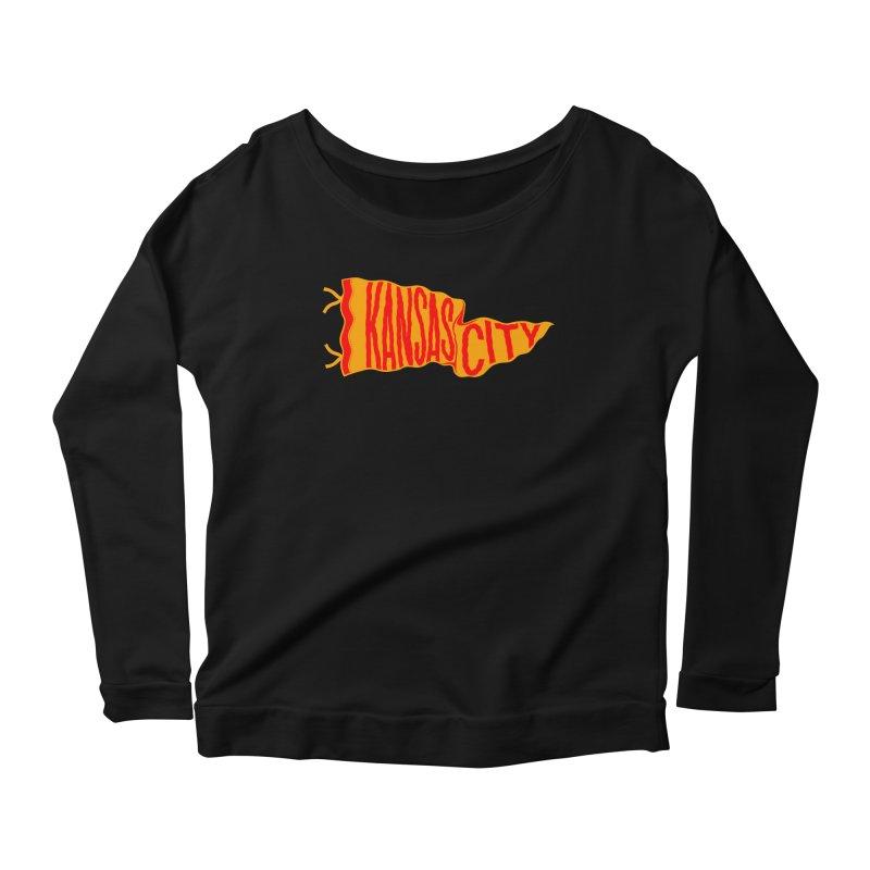 Kansas City Pennant No. 1 Women's Scoop Neck Longsleeve T-Shirt by redleggerstudio's Shop