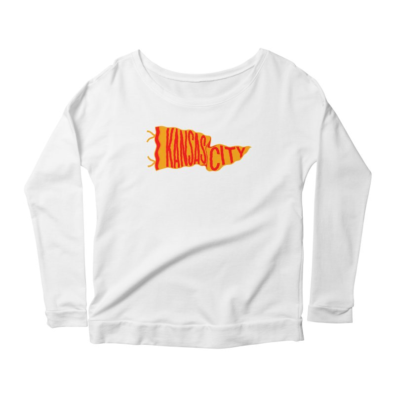 Kansas City Pennant No. 1 Women's Scoop Neck Longsleeve T-Shirt by redleggerstudio's Shop