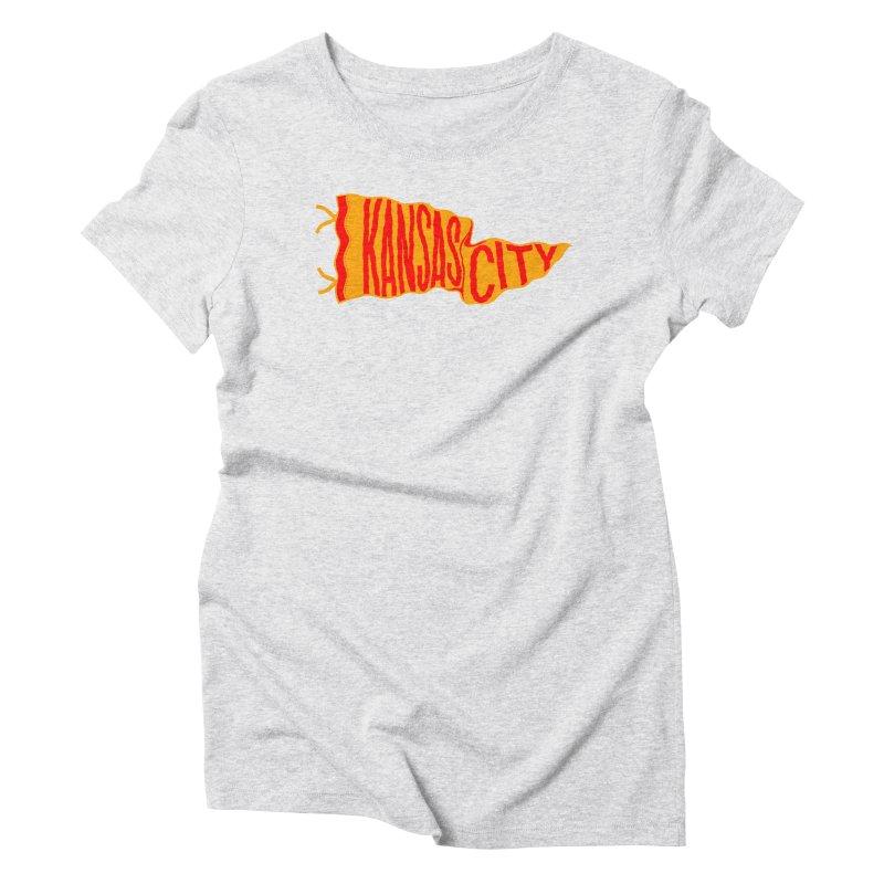 Kansas City Pennant No. 1 Women's Triblend T-Shirt by redleggerstudio's Shop