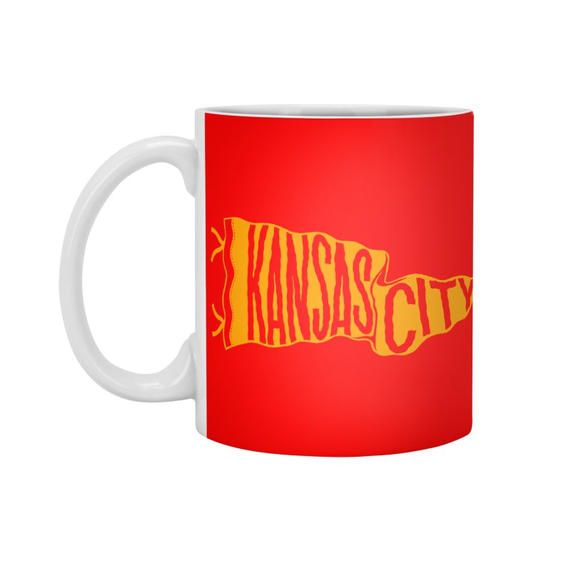 Kansas City Pennant No. 1 Accessories Mug by redleggerstudio's Shop
