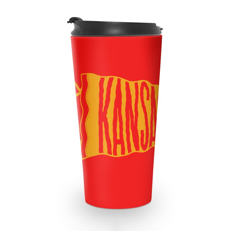 Kansas City Pennant No. 1 Accessories Travel Mug by redleggerstudio's Shop