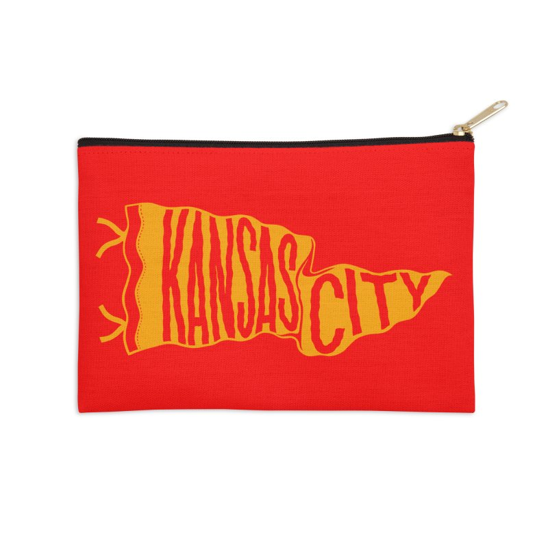 Kansas City Pennant No. 1 Accessories Zip Pouch by redleggerstudio's Shop