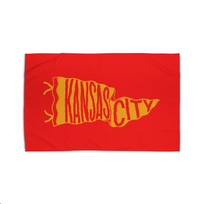 Kansas City Pennant No. 1 Home Rug by redleggerstudio's Shop