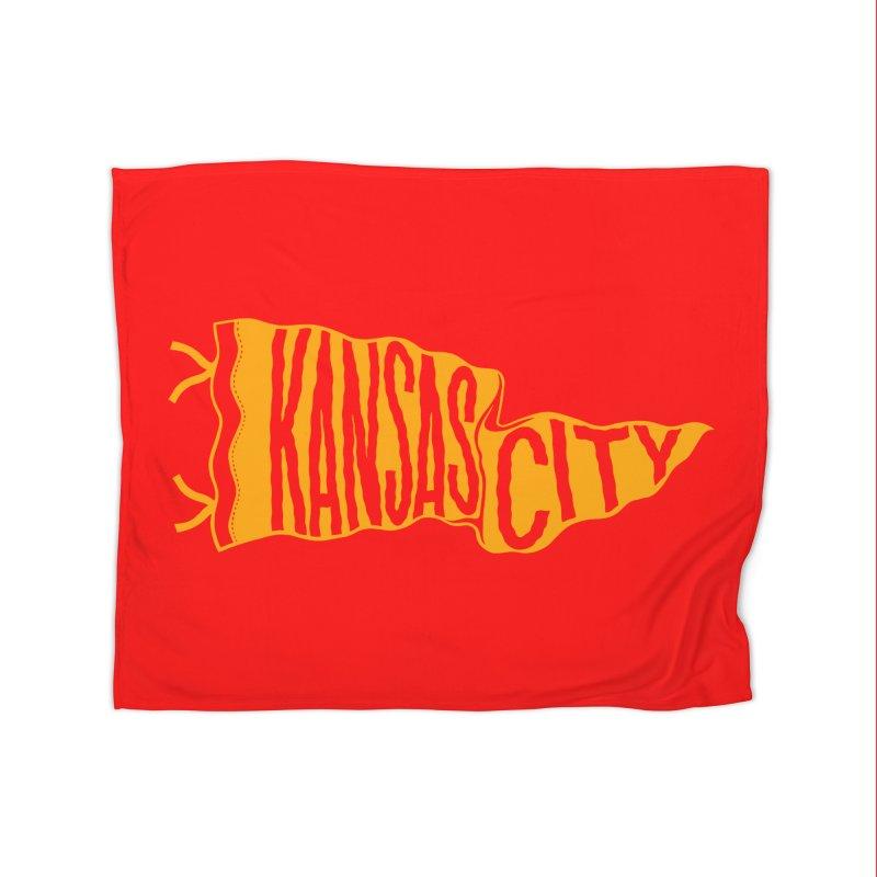 Kansas City Pennant No. 1 Home Blanket by redleggerstudio's Shop
