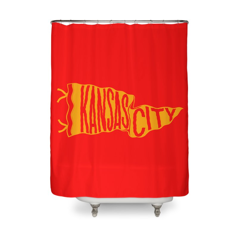 Kansas City Pennant No. 1 Home Shower Curtain by redleggerstudio's Shop