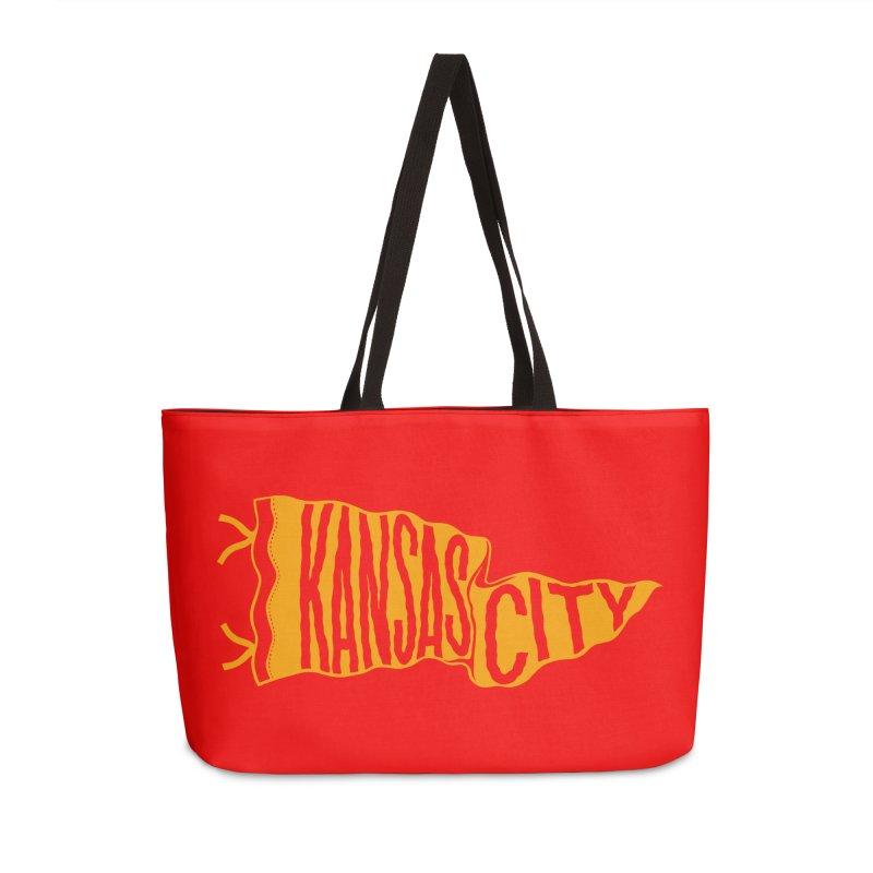 Kansas City Pennant No. 1 Accessories Weekender Bag Bag by redleggerstudio's Shop