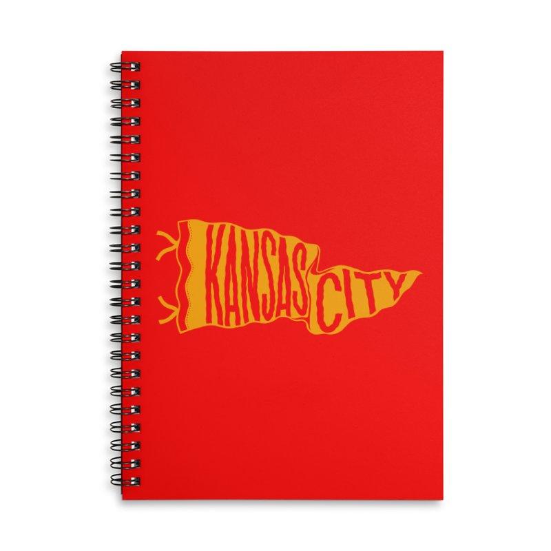 Kansas City Pennant No. 1 Accessories Lined Spiral Notebook by redleggerstudio's Shop