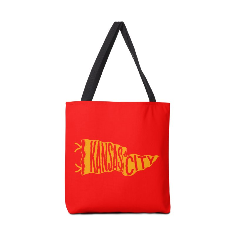Kansas City Pennant No. 1 Accessories Tote Bag Bag by redleggerstudio's Shop