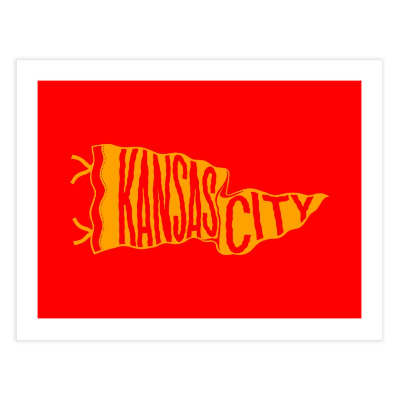 Kansas City Pennant No. 1 Home Fine Art Print by redleggerstudio's Shop