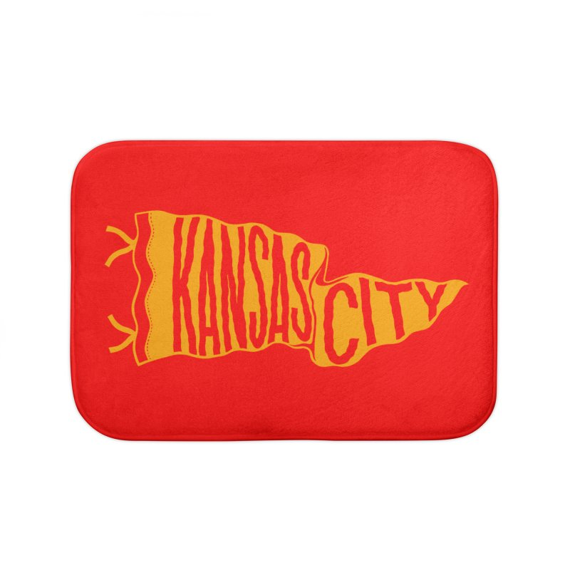Kansas City Pennant No. 1 Home Bath Mat by redleggerstudio's Shop