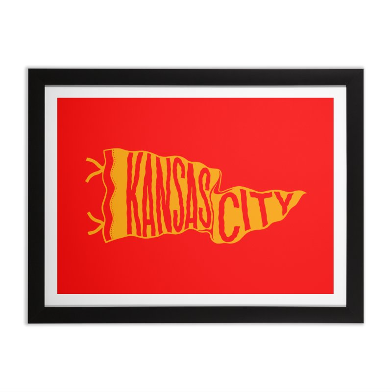 Kansas City Pennant No. 1 Home Framed Fine Art Print by redleggerstudio's Shop