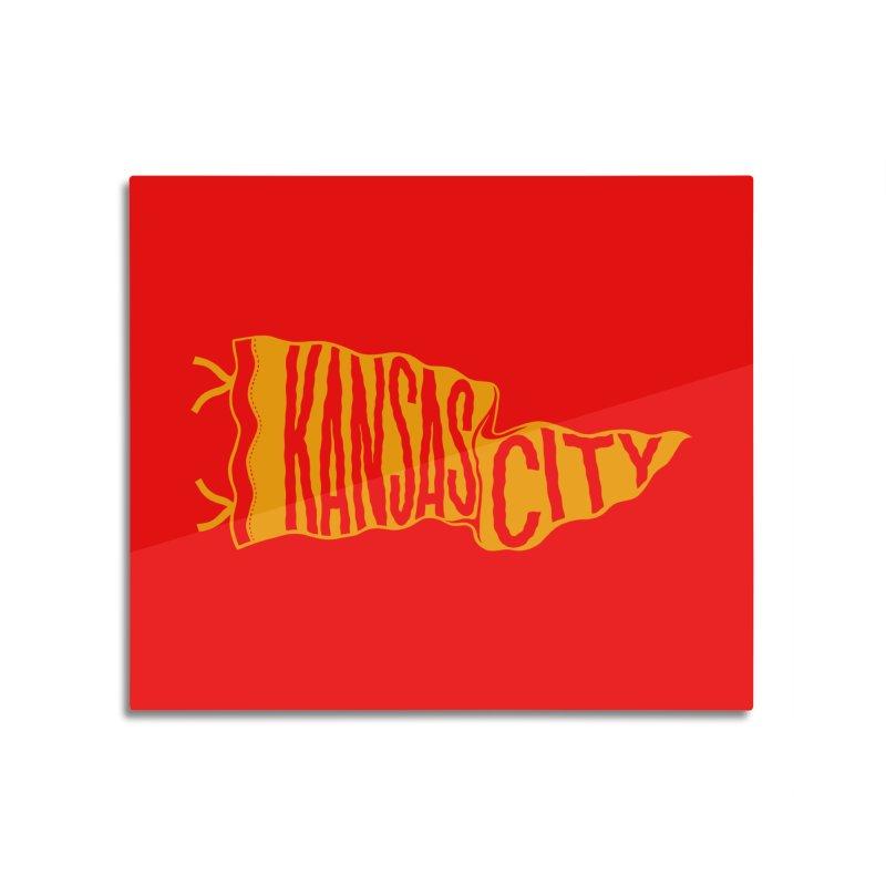 Kansas City Pennant No. 1 Home Mounted Acrylic Print by redleggerstudio's Shop