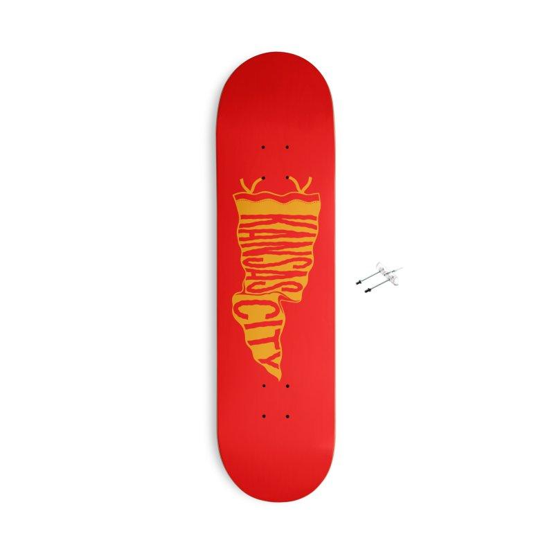 Kansas City Pennant No. 1 Accessories With Hanging Hardware Skateboard by redleggerstudio's Shop