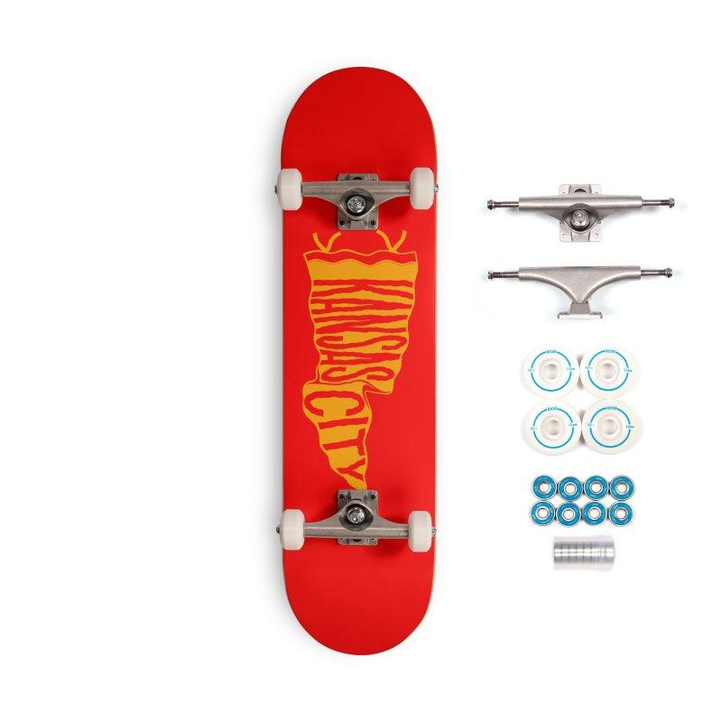 Kansas City Pennant No. 1 Accessories Complete - Basic Skateboard by redleggerstudio's Shop