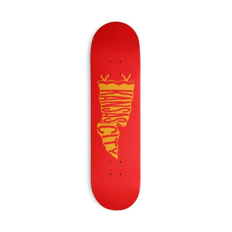 Kansas City Pennant No. 1 Accessories Deck Only Skateboard by redleggerstudio's Shop