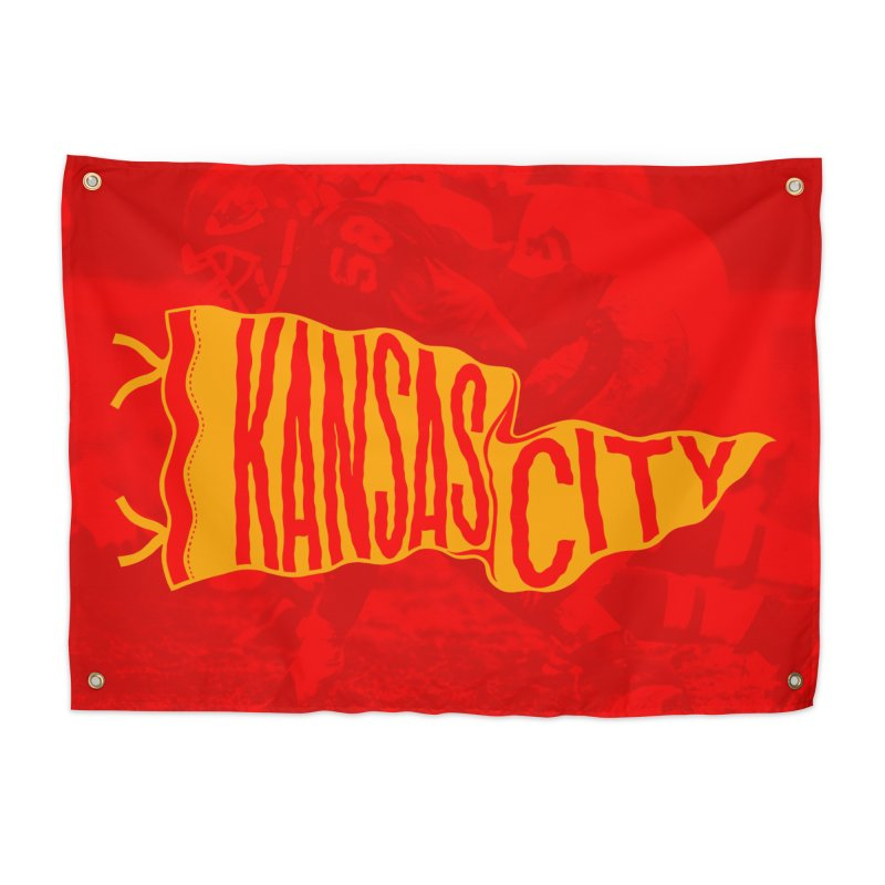 Kansas City Pennant No. 1 Home Tapestry by redleggerstudio's Shop