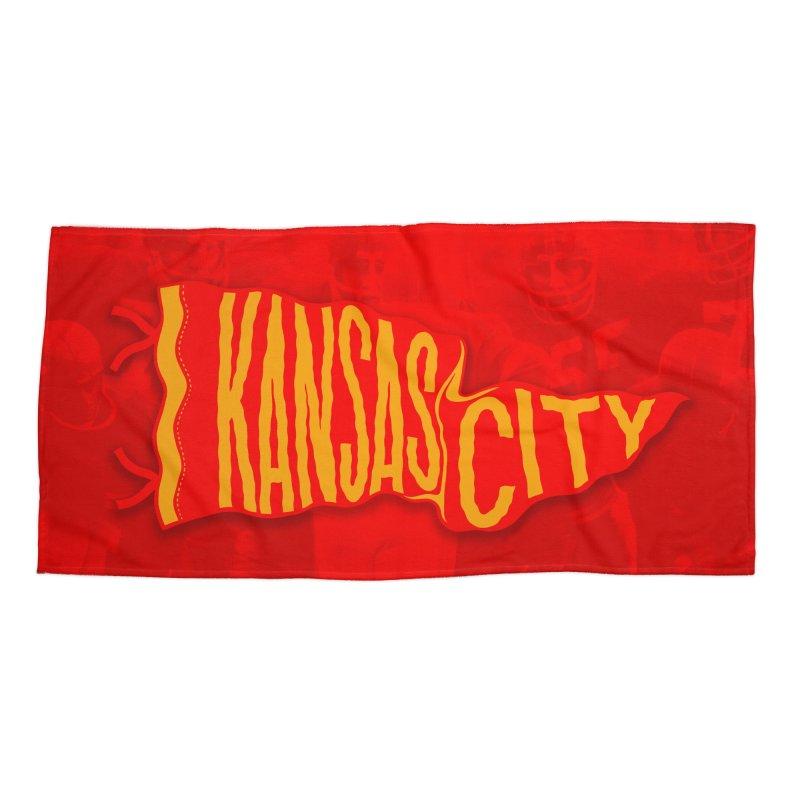 Kansas City Pennant No. 2 Accessories Beach Towel by redleggerstudio's Shop