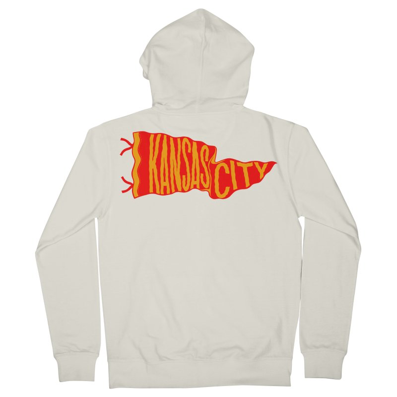 Kansas City Pennant No. 2 Men's French Terry Zip-Up Hoody by redleggerstudio's Shop