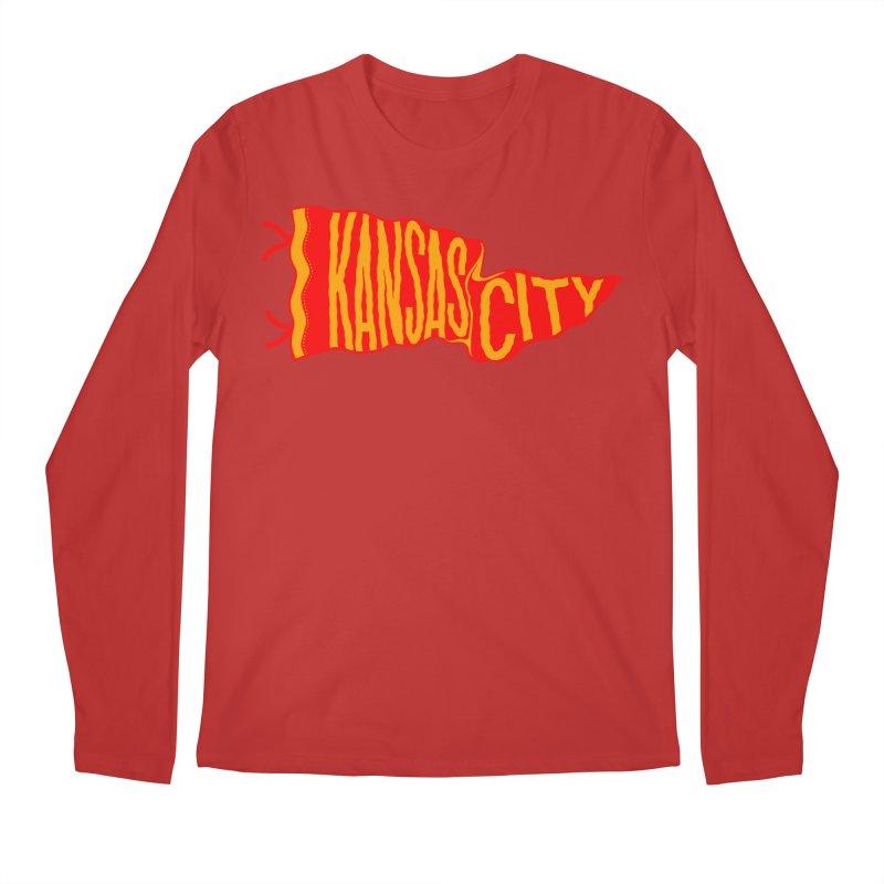 Kansas City Pennant No. 2 Men's Regular Longsleeve T-Shirt by redleggerstudio's Shop