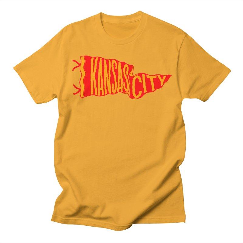 Kansas City Pennant No. 2 Women's Regular Unisex T-Shirt by redleggerstudio's Shop