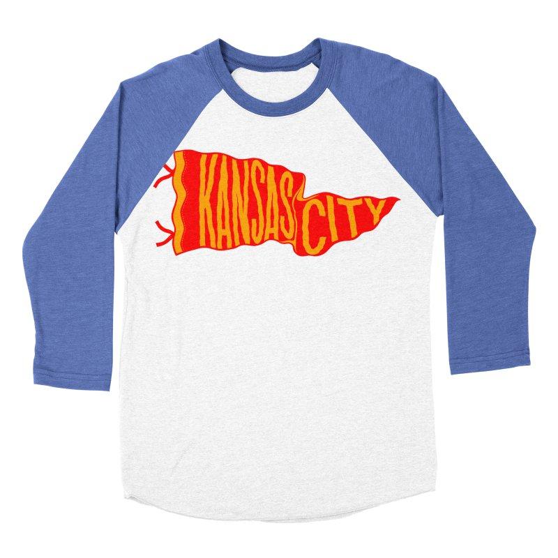Kansas City Pennant No. 2 Women's Baseball Triblend Longsleeve T-Shirt by redleggerstudio's Shop