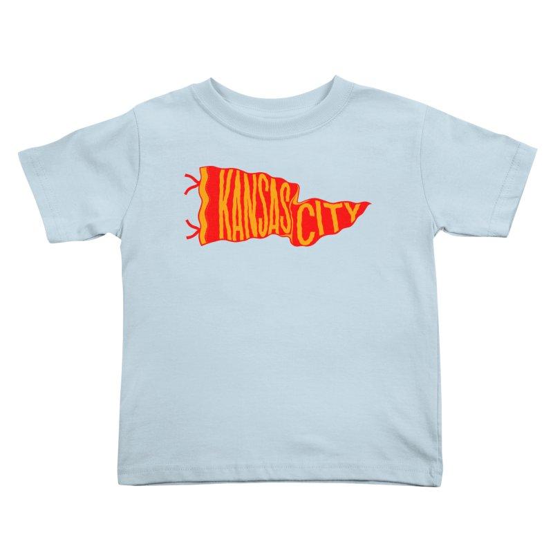 Kansas City Pennant No. 2 Kids Toddler T-Shirt by redleggerstudio's Shop