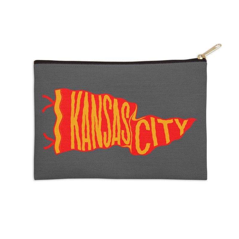 Kansas City Pennant No. 2 Accessories Zip Pouch by redleggerstudio's Shop