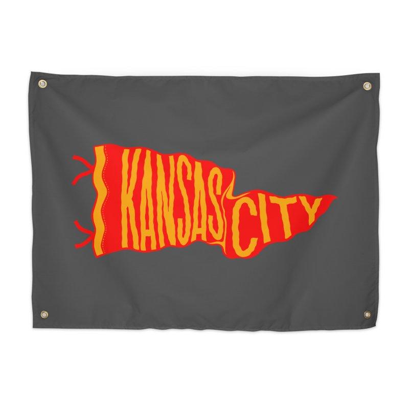 Kansas City Pennant No. 2 Home Tapestry by redleggerstudio's Shop