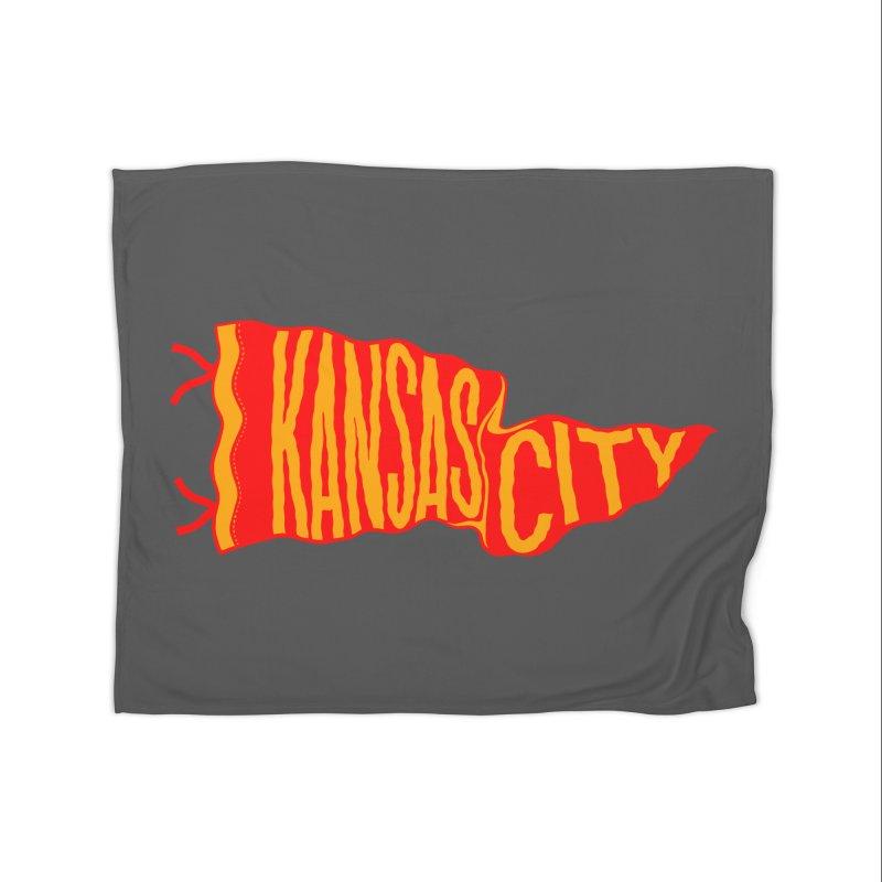 Kansas City Pennant No. 2 Home Blanket by redleggerstudio's Shop