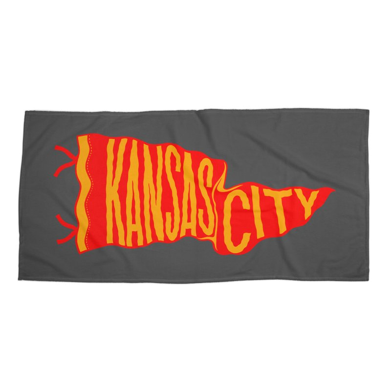Kansas City Pennant No. 2 Accessories Beach Towel by redleggerstudio's Shop