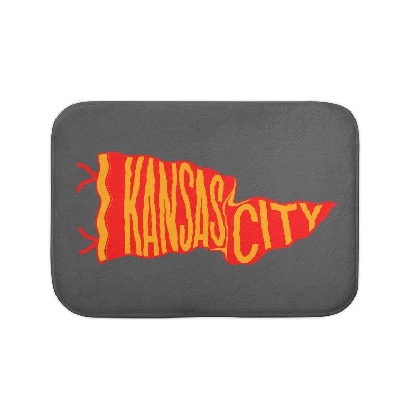 Kansas City Pennant No. 2 Home Bath Mat by redleggerstudio's Shop