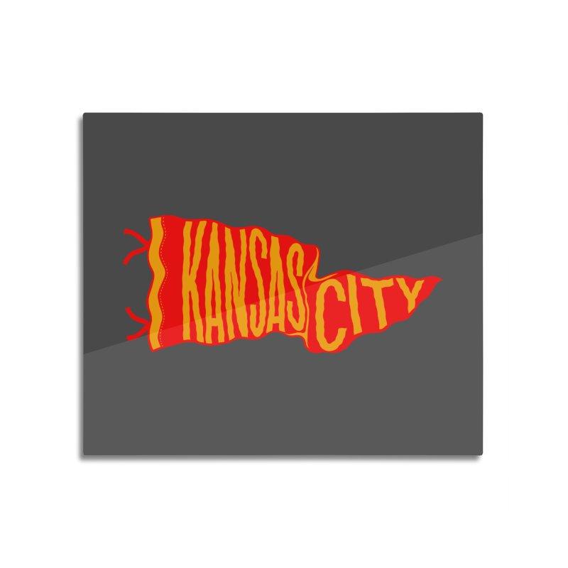 Kansas City Pennant No. 2 Home Mounted Aluminum Print by redleggerstudio's Shop