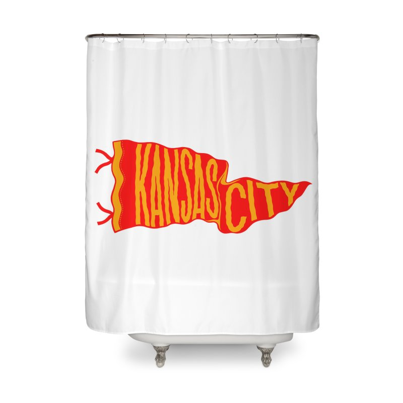 Kansas City Pennant No. 2 Home Shower Curtain by redleggerstudio's Shop