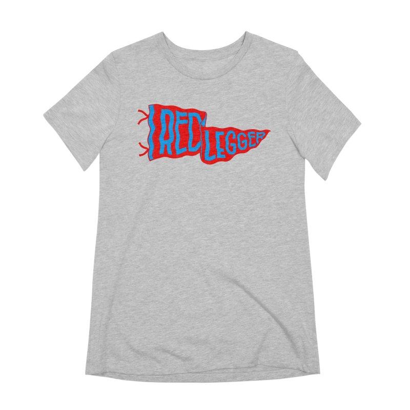 RED LEGGER PENNANT Women's Extra Soft T-Shirt by redleggerstudio's Shop