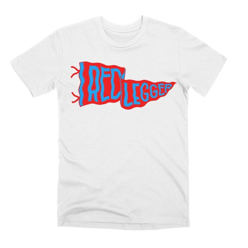 RED LEGGER PENNANT Men's Premium T-Shirt by redleggerstudio's Shop