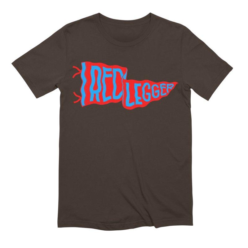 RED LEGGER PENNANT Men's Extra Soft T-Shirt by redleggerstudio's Shop