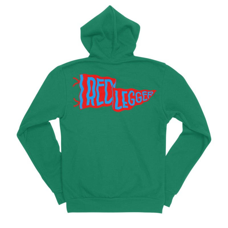 RED LEGGER PENNANT Men's Sponge Fleece Zip-Up Hoody by redleggerstudio's Shop