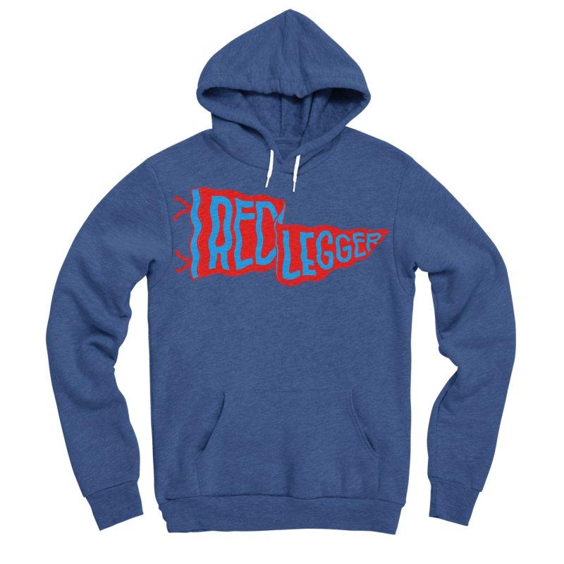 RED LEGGER PENNANT Men's Sponge Fleece Pullover Hoody by redleggerstudio's Shop