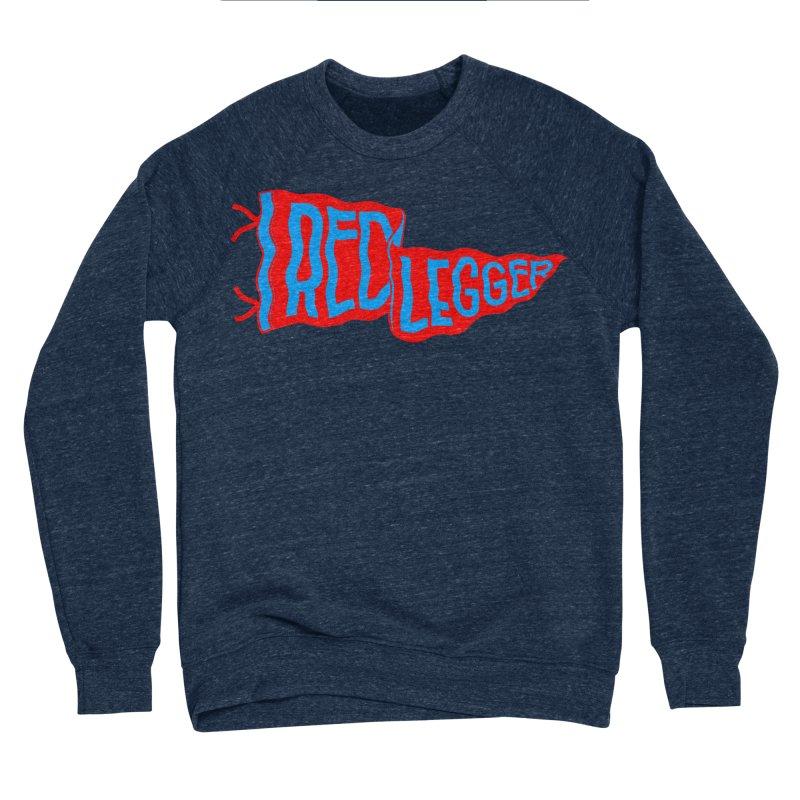 RED LEGGER PENNANT Men's Sponge Fleece Sweatshirt by redleggerstudio's Shop
