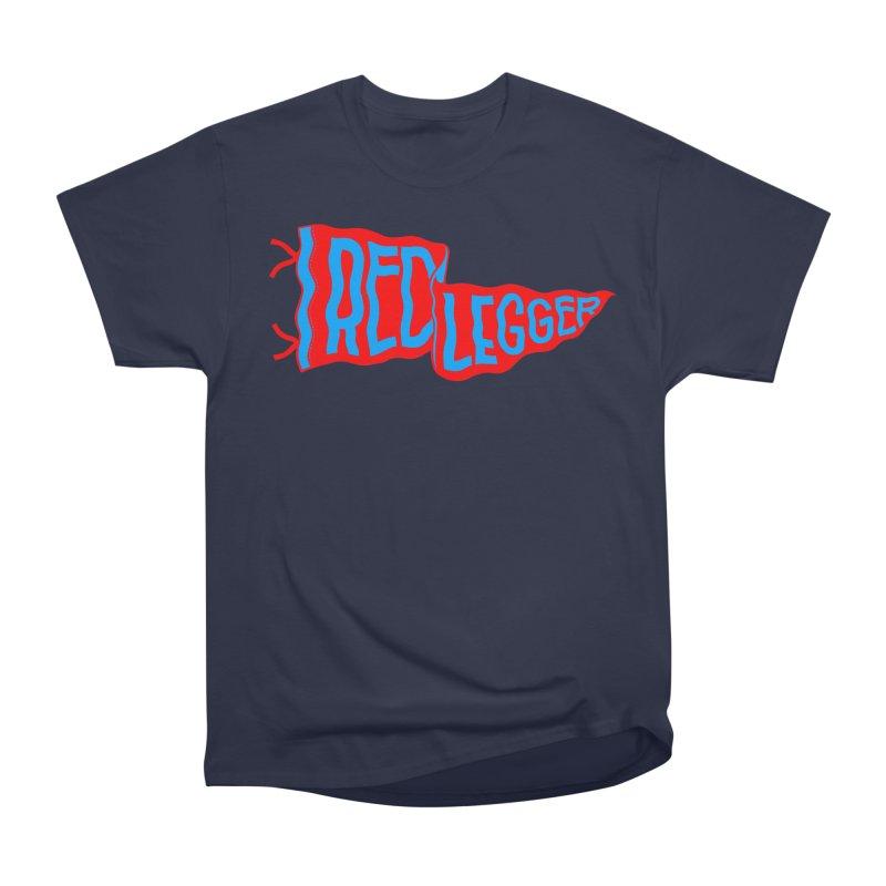 RED LEGGER PENNANT Men's Heavyweight T-Shirt by redleggerstudio's Shop