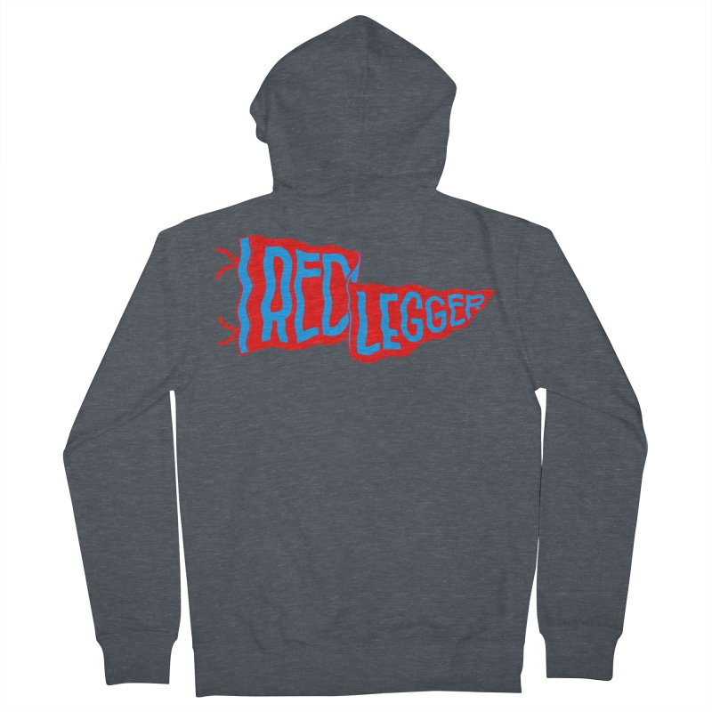 RED LEGGER PENNANT Men's French Terry Zip-Up Hoody by redleggerstudio's Shop