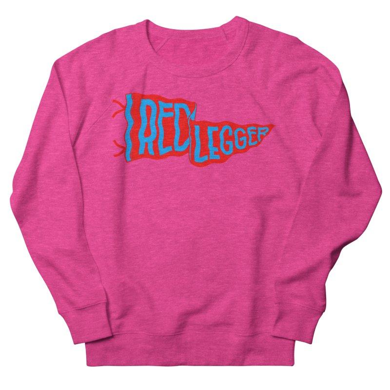 RED LEGGER PENNANT Women's French Terry Sweatshirt by redleggerstudio's Shop
