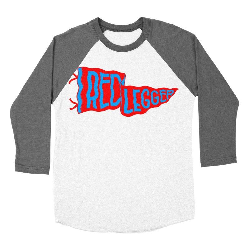 RED LEGGER PENNANT Women's Baseball Triblend Longsleeve T-Shirt by redleggerstudio's Shop
