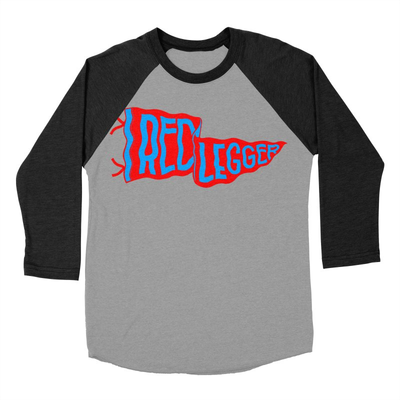 RED LEGGER PENNANT Women's Baseball Triblend Longsleeve T-Shirt by redleggerstudio's Shop