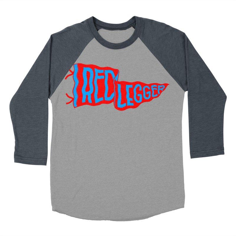 RED LEGGER PENNANT Men's Baseball Triblend Longsleeve T-Shirt by redleggerstudio's Shop