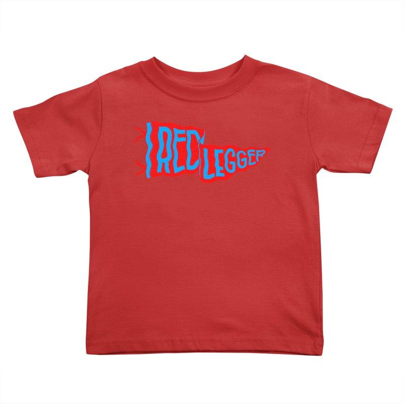 RED LEGGER PENNANT Kids Toddler T-Shirt by redleggerstudio's Shop