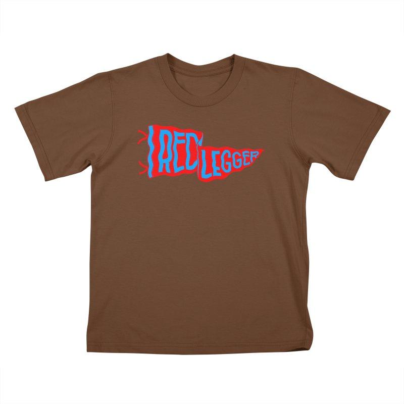 RED LEGGER PENNANT Kids T-Shirt by redleggerstudio's Shop