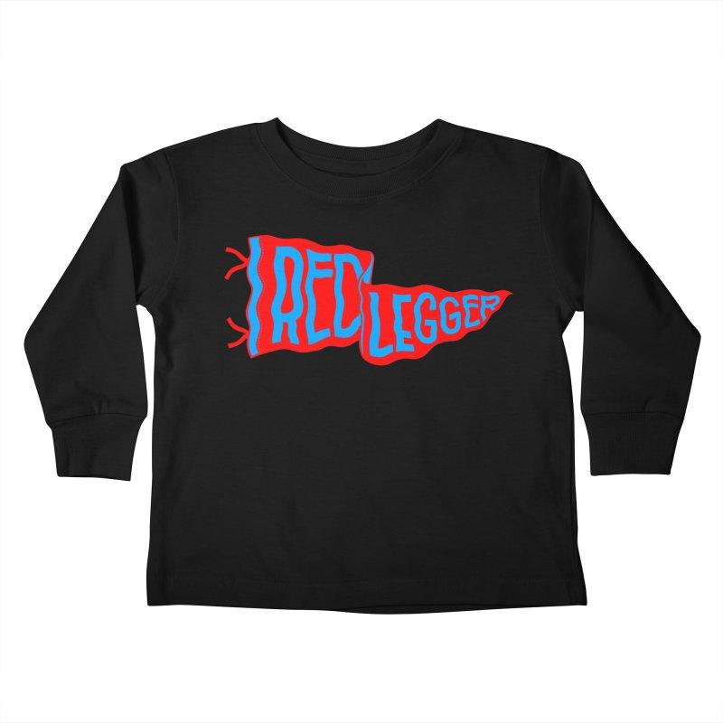RED LEGGER PENNANT Kids Toddler Longsleeve T-Shirt by redleggerstudio's Shop